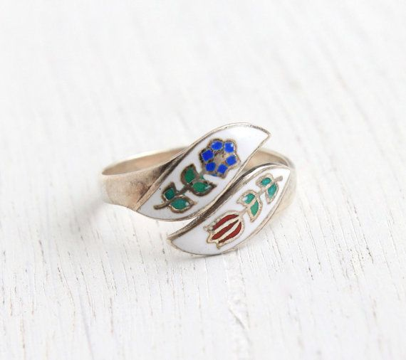 Blue ring silver vintage oval lace  gift idea for woman