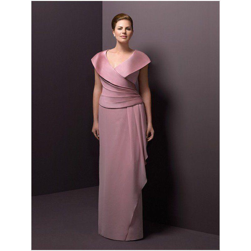 Portrait Collar Mother Of Bride Dresses For Plus Size