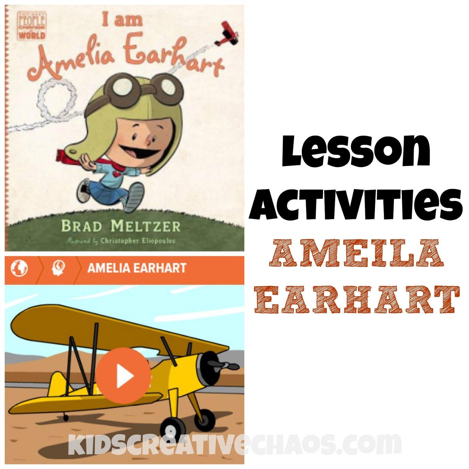 Amelia Earhart Lesson Activities: Book Review | Pinterest | La liga ...