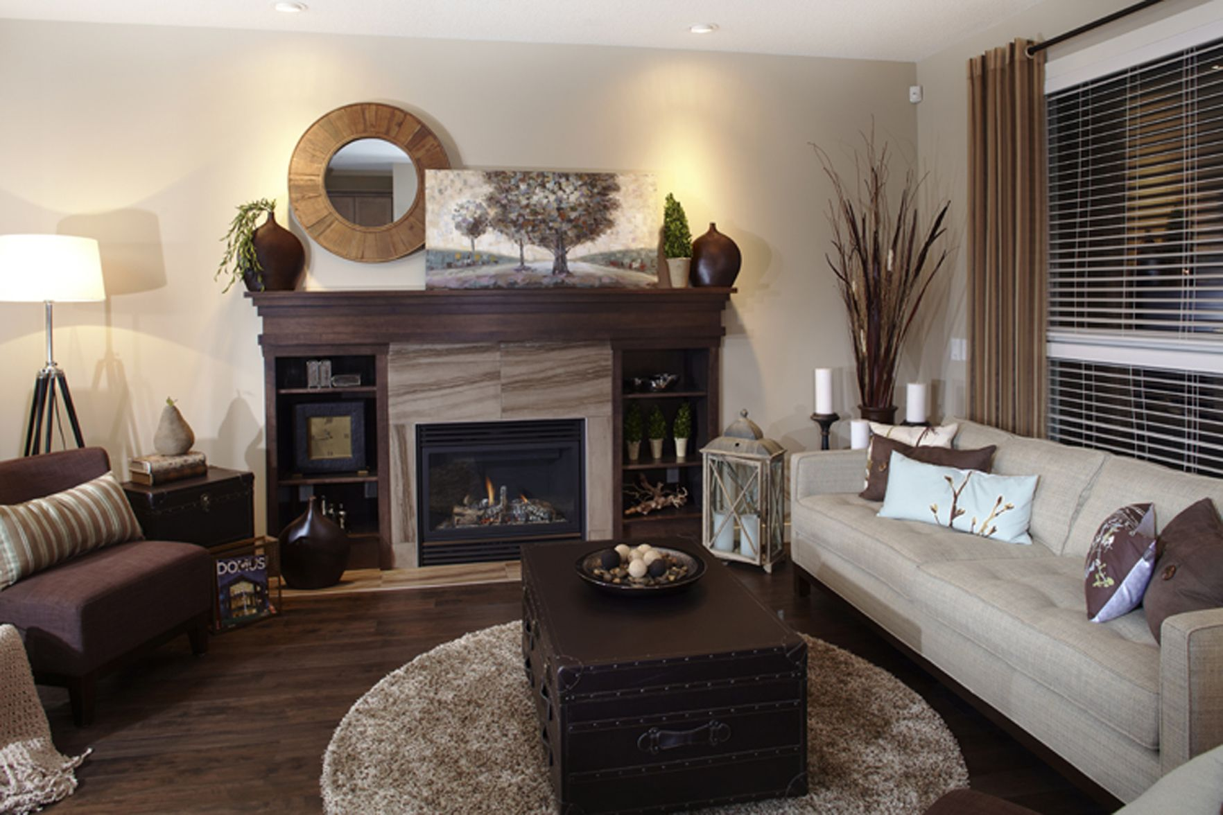 sharing an open concept with the dining room the great room with a