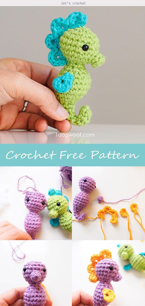 Amigurumi Seahorse Crochet Free Pattern #amigurumifreepattern
