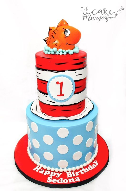 Cat In the Hat first birthday cake Call or email to book your