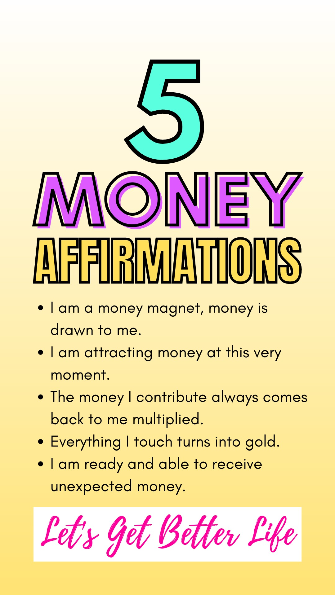 5 Money Affirmations To Attract Wealth And Abundance