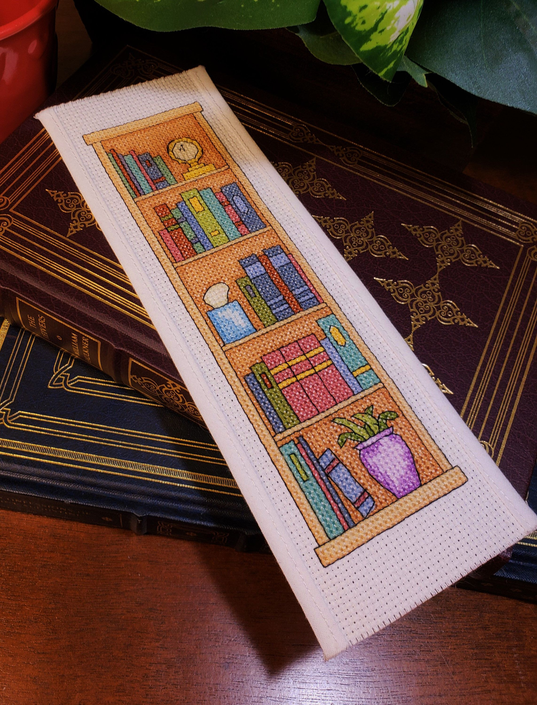 Cross Stitch Bookmark Bookcase Diy Cross Stitch Diy Project