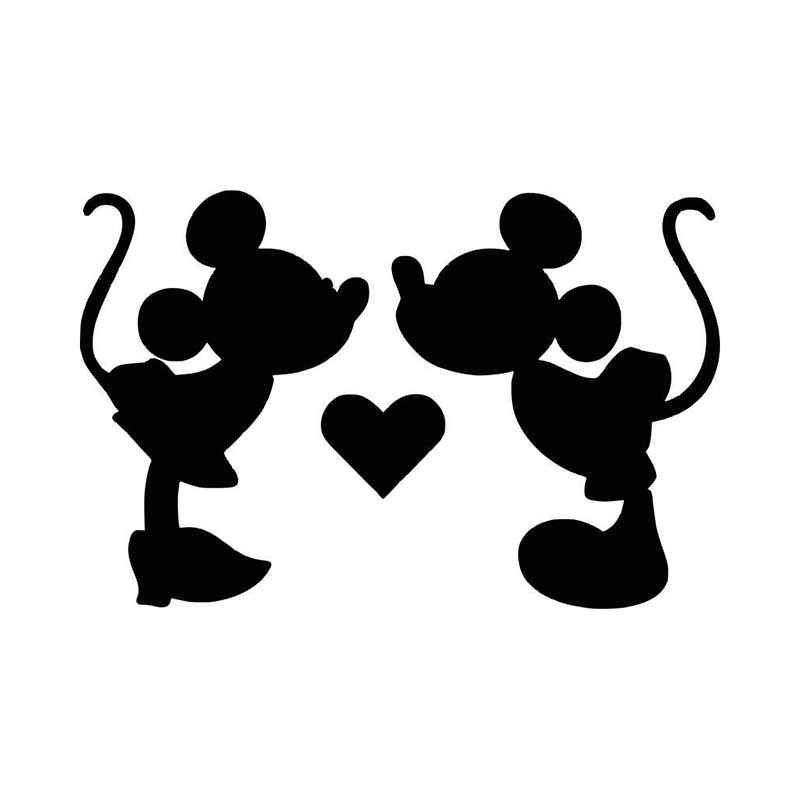 Mickey Minnie Mouse Kiss Vinyl Decal Sticker Mickey