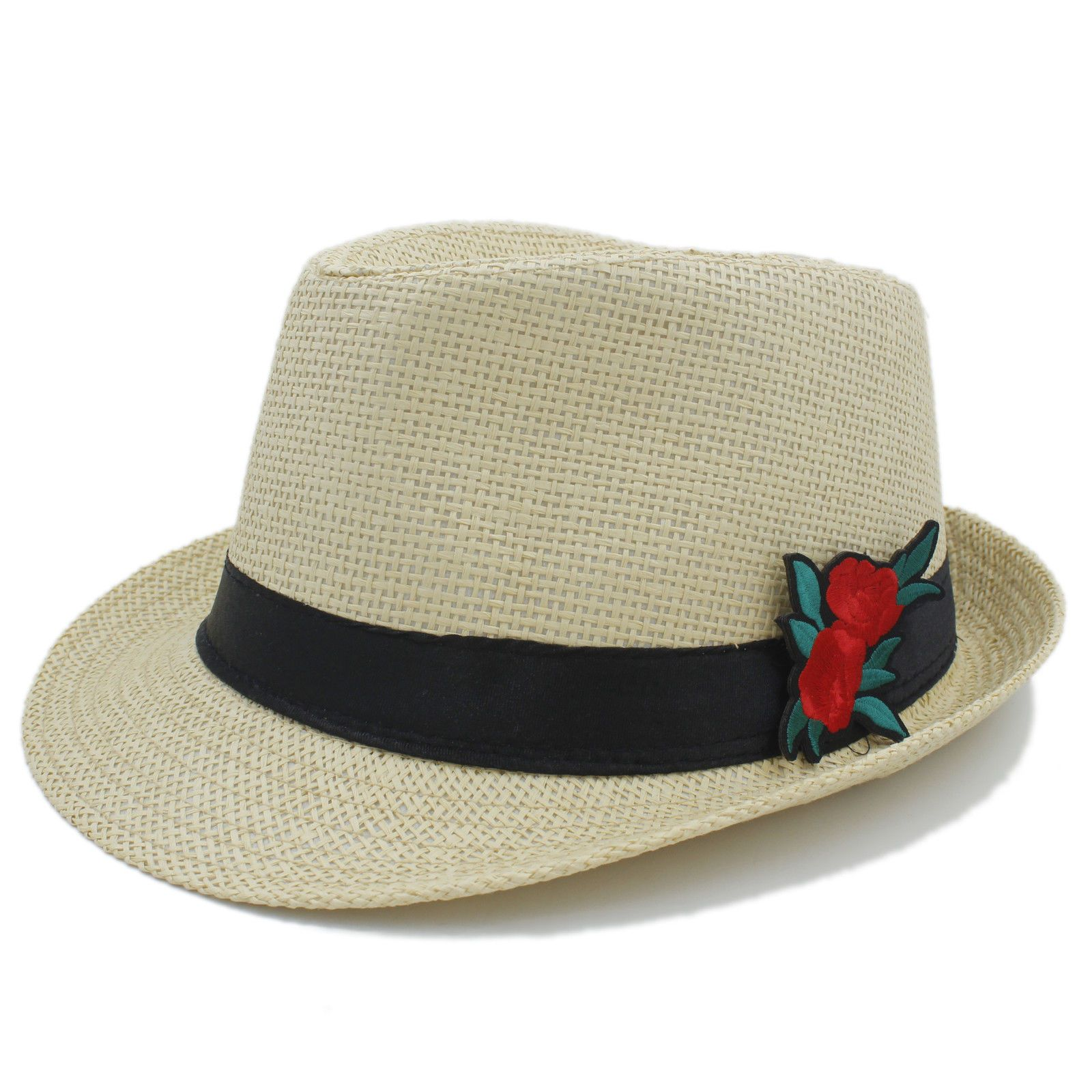82884930 Women Men Summer Straw Boater Sun Hat Lady Beach Fedora Hat Gentleman  Panama Cap #ebay #Fashion