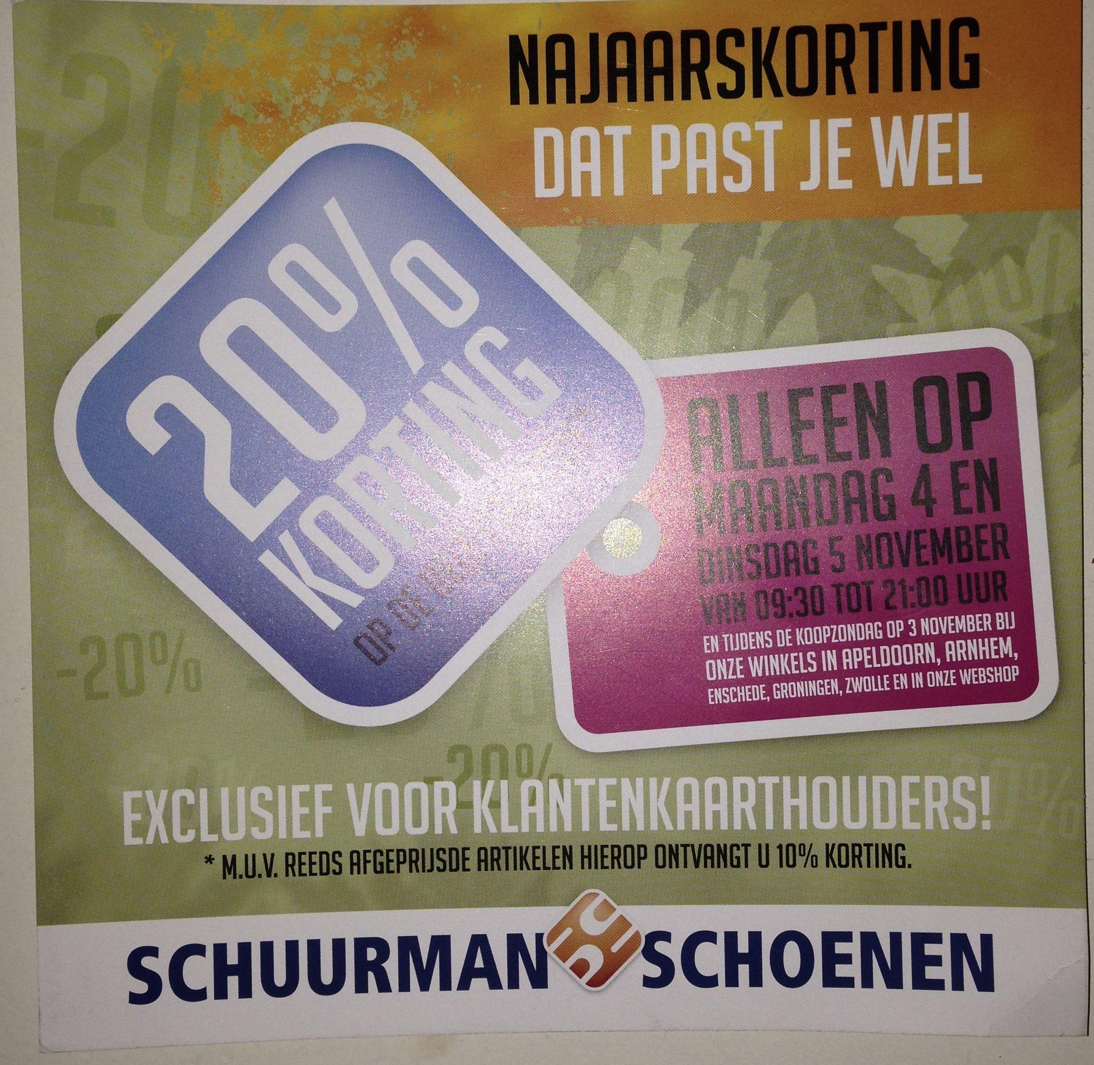 3c41b4e3e1b Flyer van Schuurman schoenen. Ook dit vind ik een sterke flyer, wat het  sterk