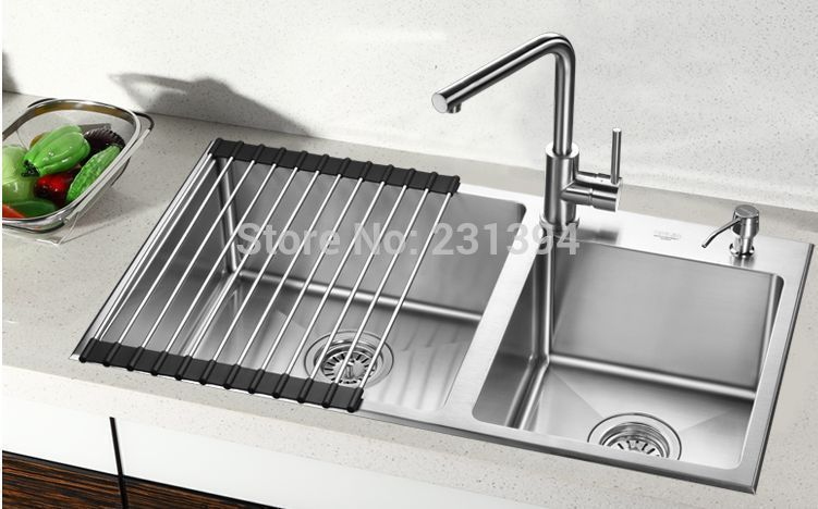 800450220mm stainless steel undermount kitchen sinks sets double cheap undermount kitchen sink buy quality kitchen sink directly from china kitchen sink set suppliers stainless steel undermount kitchen sinks sets double workwithnaturefo