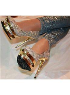 d0af4613f Hot Luxurious Rhinestone Platform Stiletto Heels