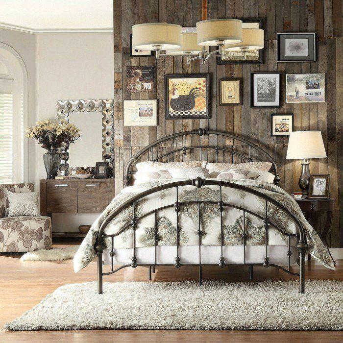 deko ideen schlafzimmer wanddeko vintage blumen leuchter Vintage
