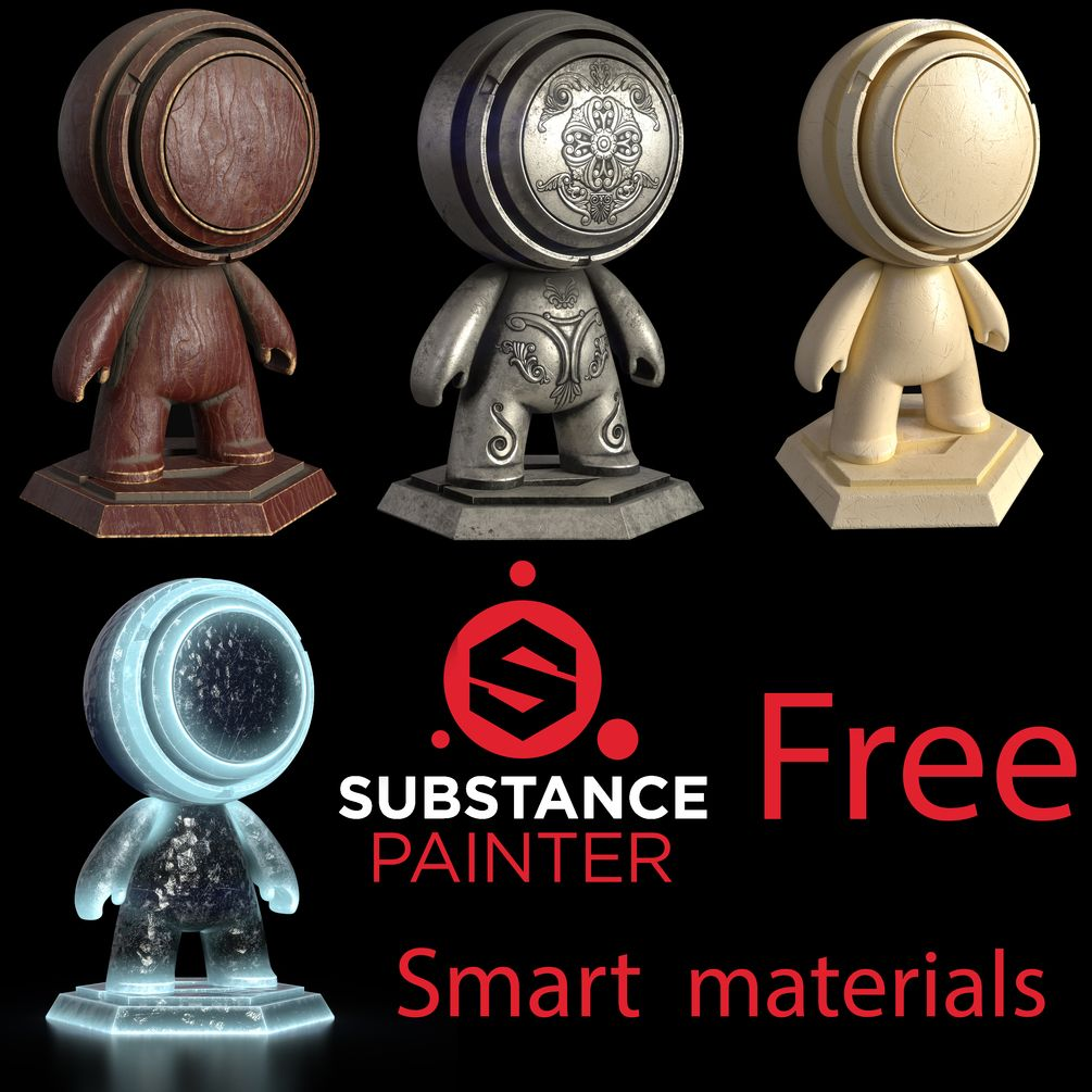 Substance painter smart materials pack | Shaders in 2019