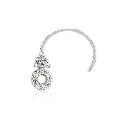 (eBay)(Ad) 100% Genuine Diamond Nose Piercing Pin Ring Stud 10k White Gold Halloween Sale #doublenosepiercing