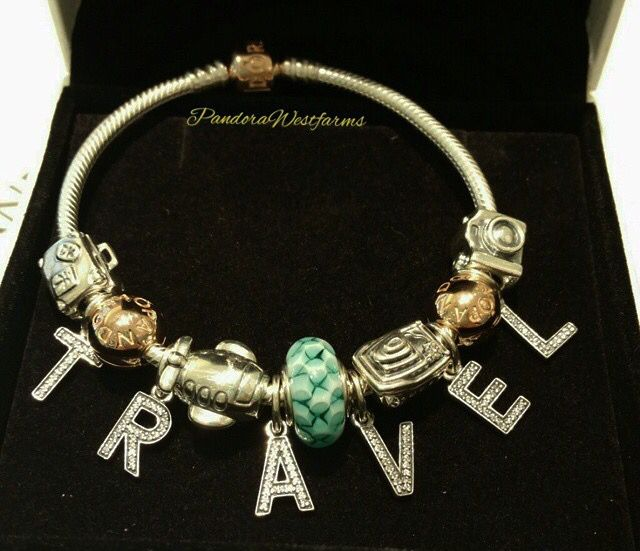 Pandora Travel Charm Bracelet I Love This Idea Of Including The Letter Charms To Creat Pandora Jewelry Charms Pandora Bracelet Charms Pandora Bracelet Designs