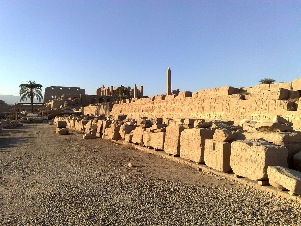 The Temple of Karnak from the banks of the sacred pool [shared]