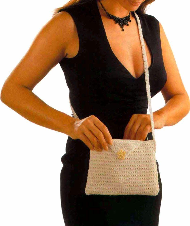 tejidos artesanales en crochet: cartera para vestir y lucir