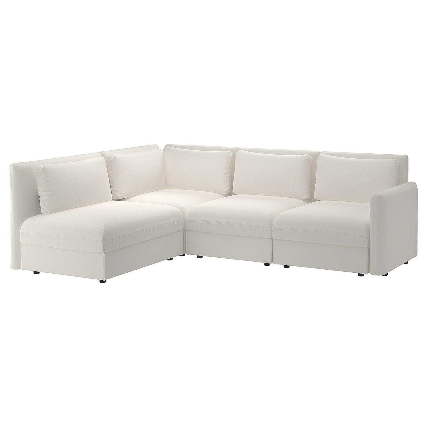 Vallentuna Modular Corner Sofa 3 Seat With Storage Murum White Get It Today Ikea In 2020 Modular Corner Sofa Vallentuna Corner Sofa