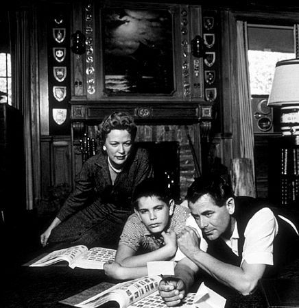 Glenn Ford With His Wife Eleanor Powell And Their Only Child Son Peter At Home 1958 Eleanor Powell Glen Ford Celebrity Kids