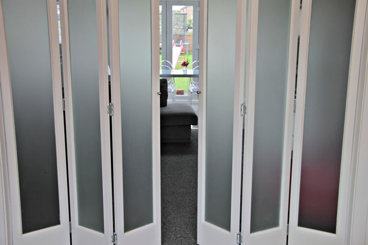Marston White 6 Leave Frosted Glass Folding Doors Interior Sliding Folding Doors Doors Interior