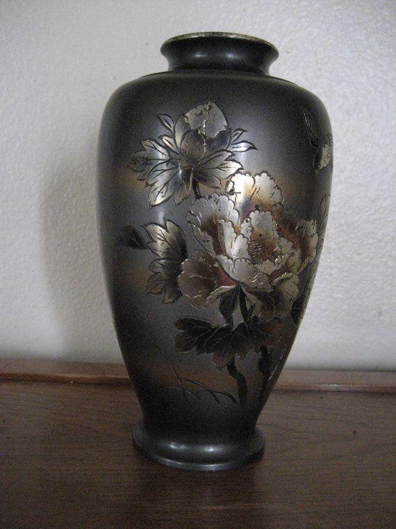 Vintage Japanese Kaneko Cloisonnechampleve Vase By Socalflea