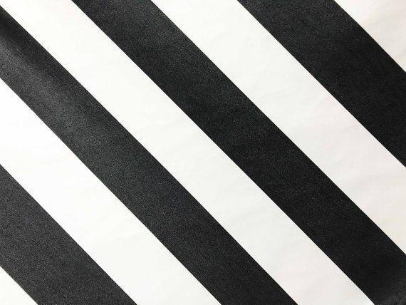 Black And White Stripe Sunbrella Stripe Fabric Cabana Classic