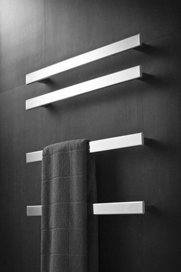 Heated Towel Rack With Images Modern Towels Bathroom Design