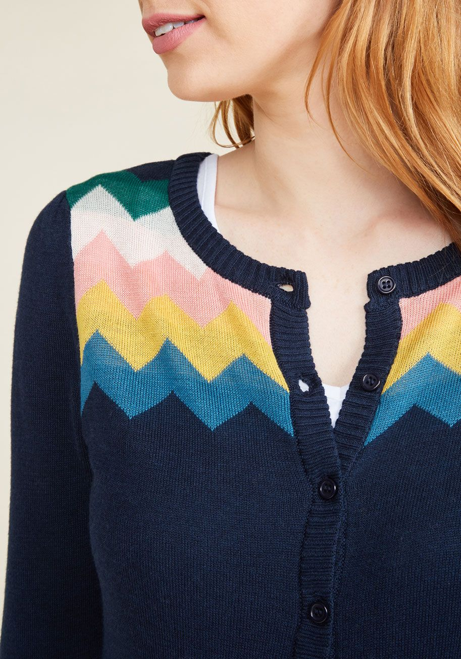 You Heard That Bright Cardigan in Navy. Adulation will fill the ...