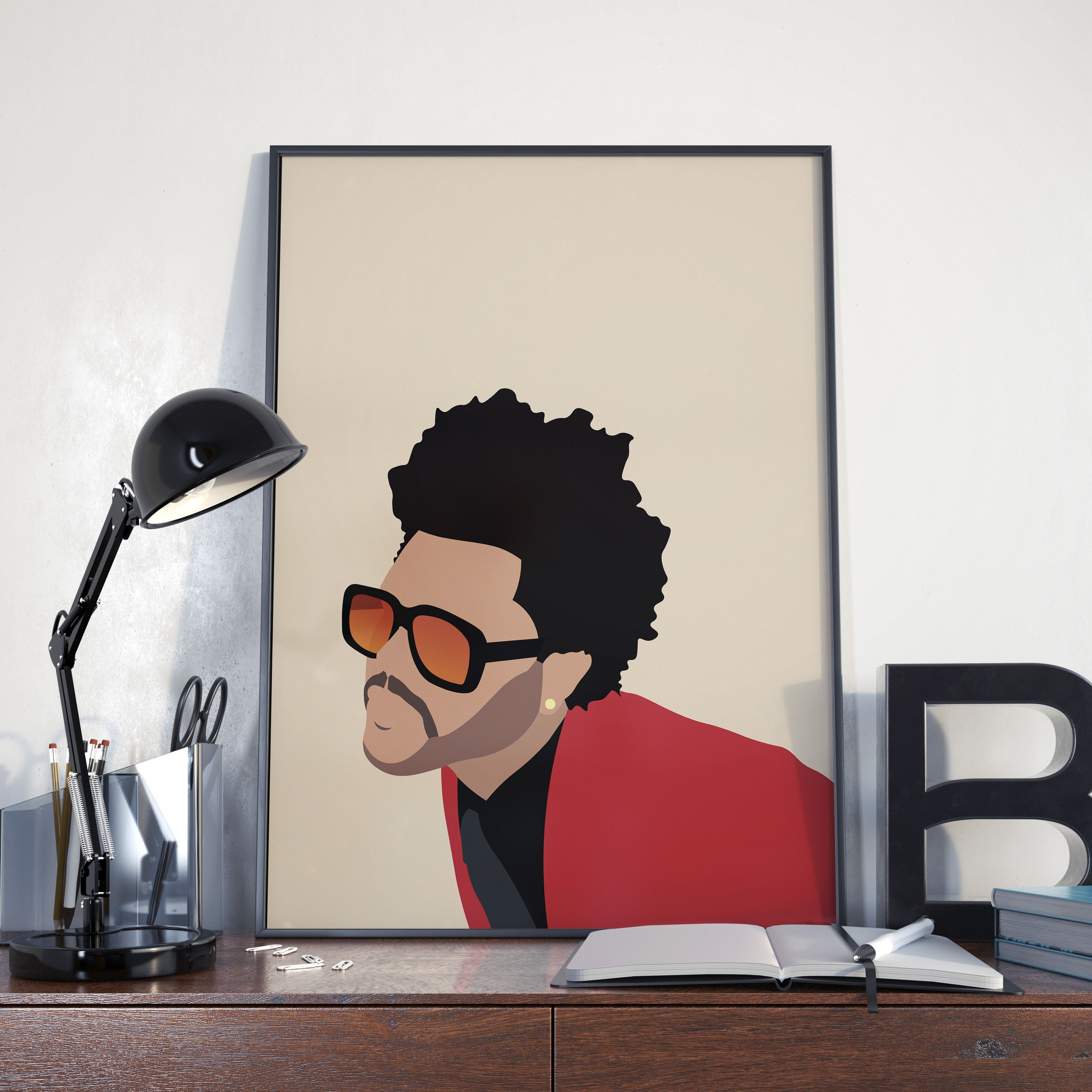 New The Weeknd Custom Personalized Art Print Poster Wall Decor