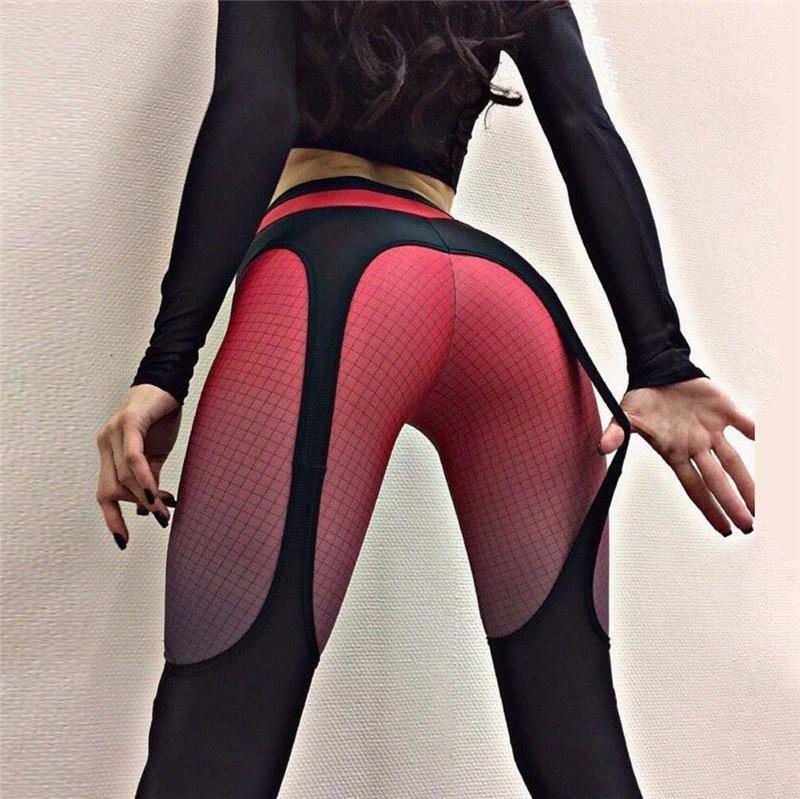 Fliegend Women High Waist Leggings Push Up Yoga Pants Long Sports Trousers Elastic Sweatpants Ladies Leggins Heart Patchwork Fitness Pants Running Pants Tights for Gym Workout