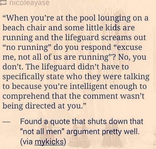 So if you feel guilty when the figurative lifeguard is yelling, then you must have something to feel guilty for. Did you run by the pool in the past? Were you planning on doing it in the future?