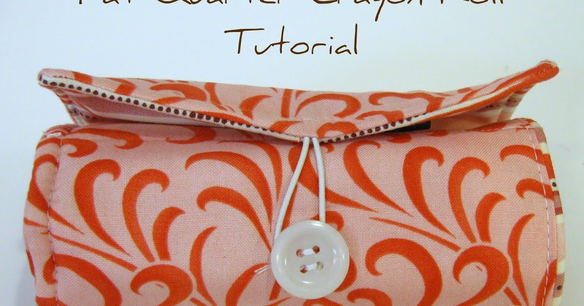 My good friend Shonda  asked me to write a Crayon Roll tutorial for her.  These are very popular right now and so I know there are tutorial...