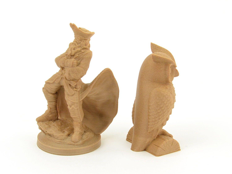 COLORFABB WOODFILL 3D Printer filament spool wood particles