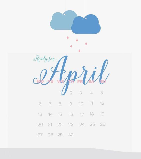 Simple April 2020 Calendar Wallpaper Calendar Wallpaper Calendar Background Free Calendar Template