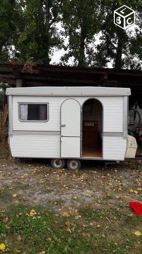 caravane pliante double essieux caravanes camping cars vintages pinterest caravane. Black Bedroom Furniture Sets. Home Design Ideas