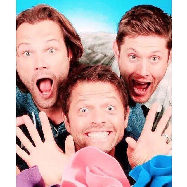 Jared, Jensen, Misha  Cred to kilgorene on Twitter