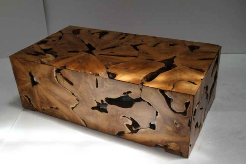 24+ Wood block coffee table brown project 62 ideas