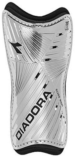 Diadora Youth Scudo Shin Guards Silver X Small Ventilated Shell For Breathability X Small Size Features Shin Guards Sleeve Included Size Chart Diadora