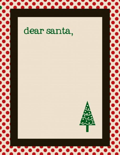 Free Santa Letter Templates  Dear Santa Free Printable And Santa
