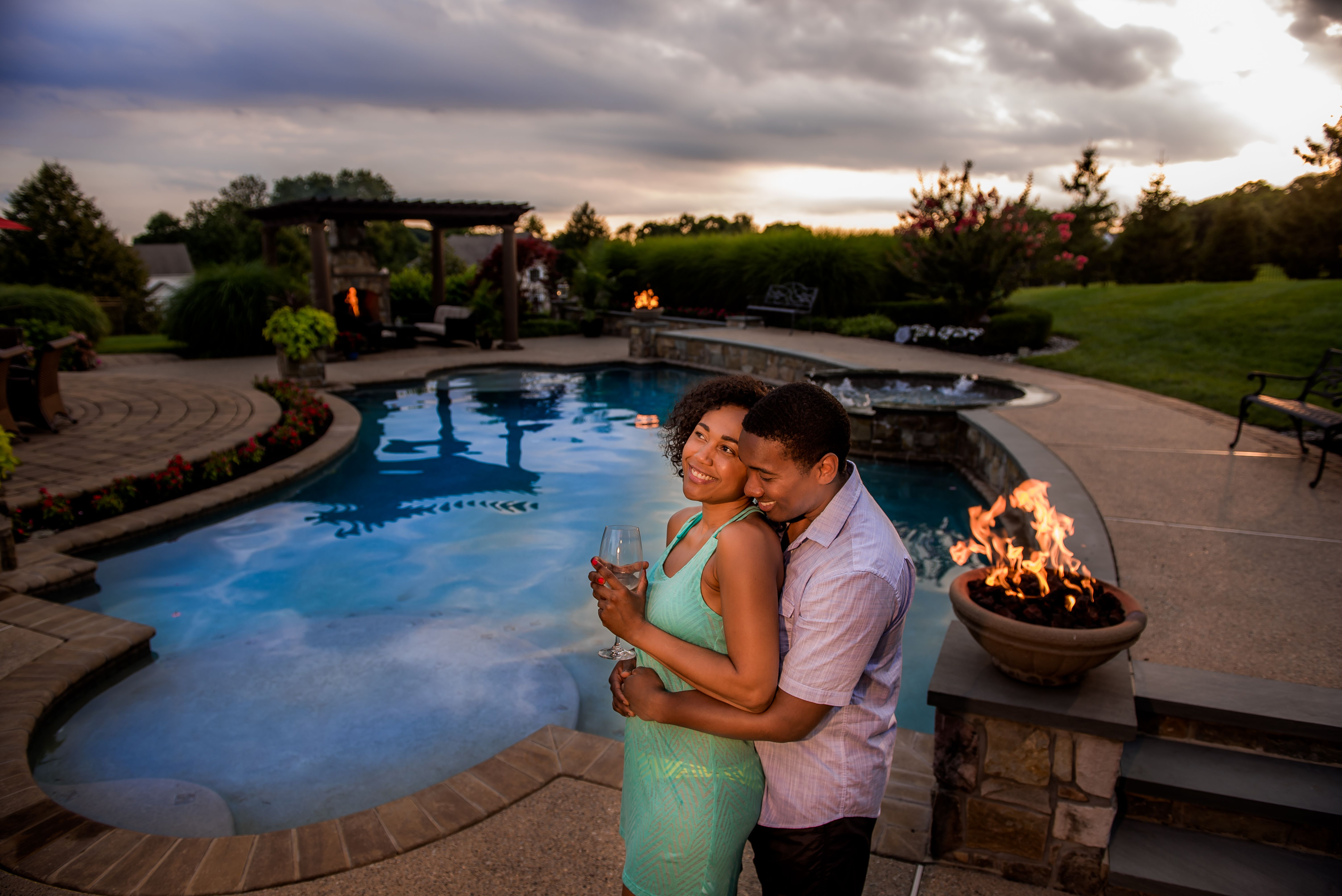 This freeform pool is the best way to maximize your ... on Outdoor Living Pool And Spa id=27884