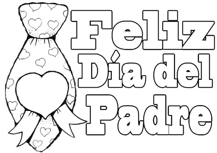 Dibujos Feliz Dia del Padre para colorear | Dibujos para colorear ...