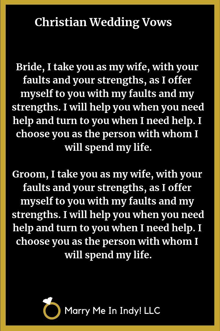 Christian Wedding Vow Ideas Christian wedding vows