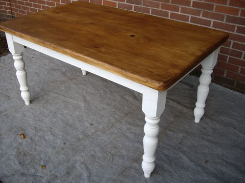 Refurbished Dining Table Shabby Chic Vintage Reclaimed Ebay