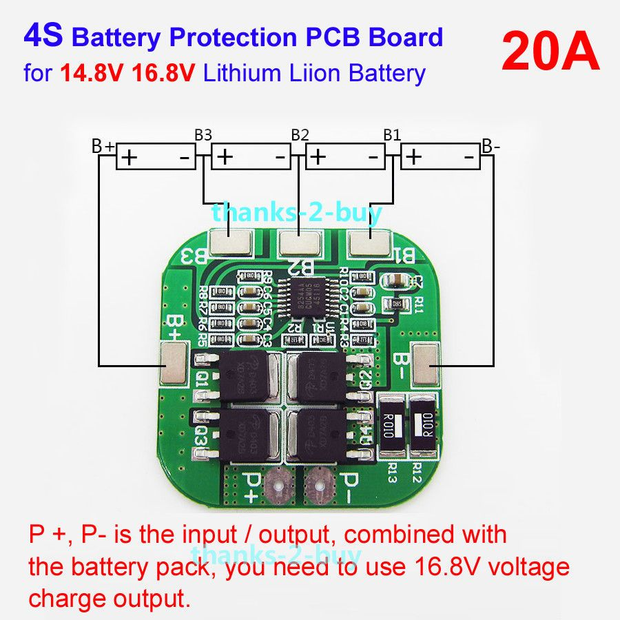 3 7 4s 20a Li Ion Lithium 18650 Battery Bms Protection Pcb Board 14 8v 16 8v Cell Ebay Electronics In 2020 Lithium Battery Charger Battery Charger Lithium Battery