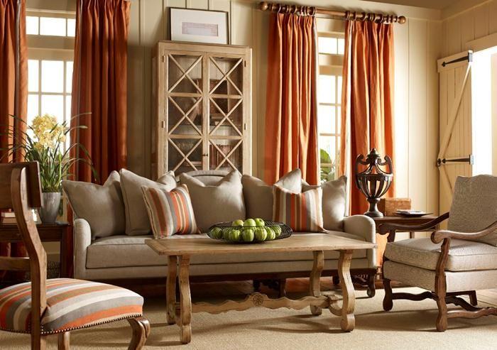 Nice Rustic Living Room Curtains