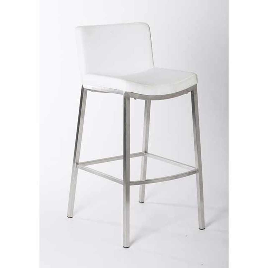 Vargo Stainless Steel Bar Stool White In 2020 Stainless Steel