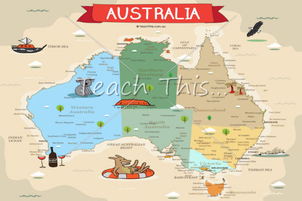 australia map printable maps and graphic organisers teacher resources teacher resources and classroom games