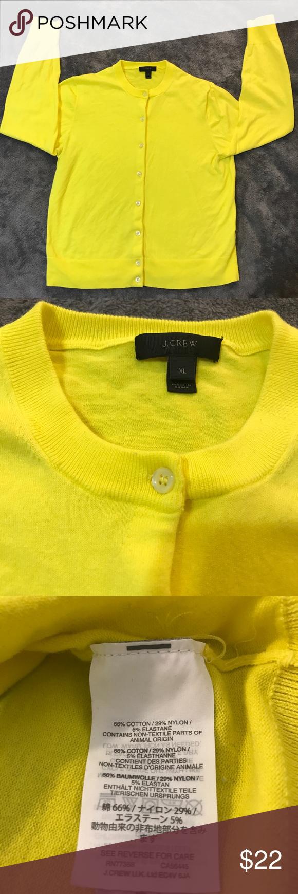 J. Crew Jackie Cardigan Button Down Sweater - XL | Bitter lemon ...