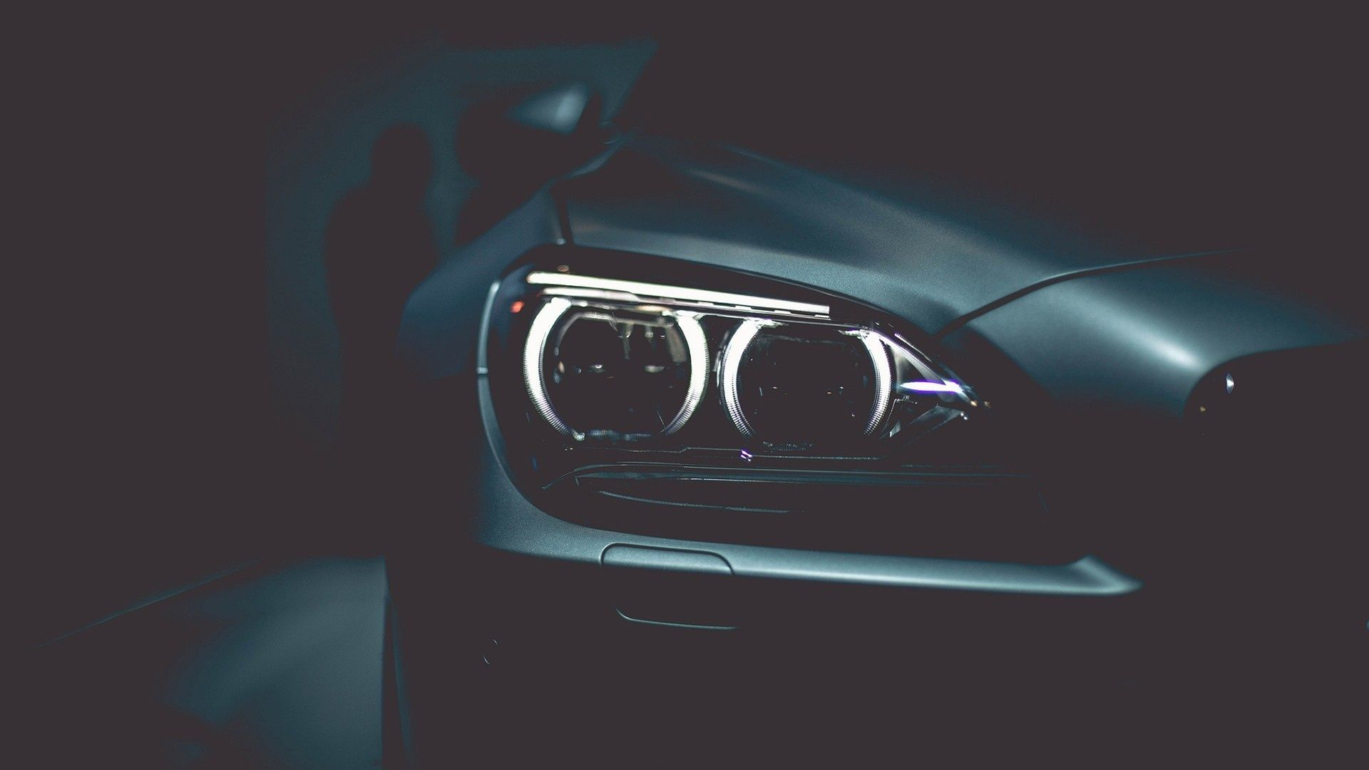 1920x1080 Wallpaper Bmw Headlights Black Style