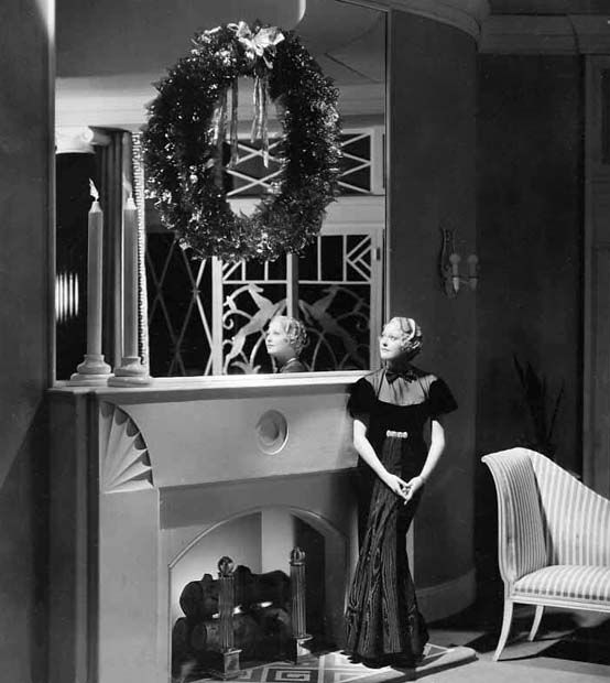 Thelma Todd looking lovely at Christmastime...