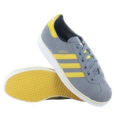 on sale 699ca def93 Adidas-Gazelle-2-Grey-Yellow-Trainers