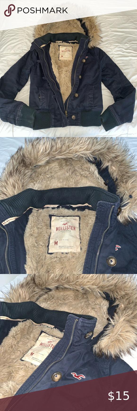 Hollister Winter Coat Fur Inside Hood Zip Up Snow Winter Fur Coats Winter Coat Hollister [ 1740 x 580 Pixel ]